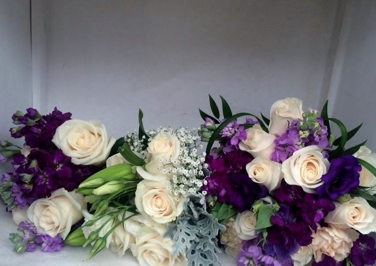 Shades of Purple Bridal Bouquet, Throw away and bridesmaid Bouquets from LMG