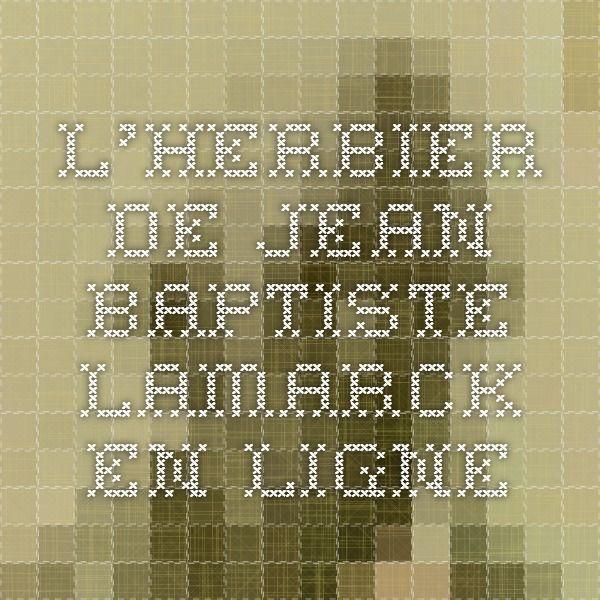 L'herbier de Jean-Baptiste Lamarck en ligne