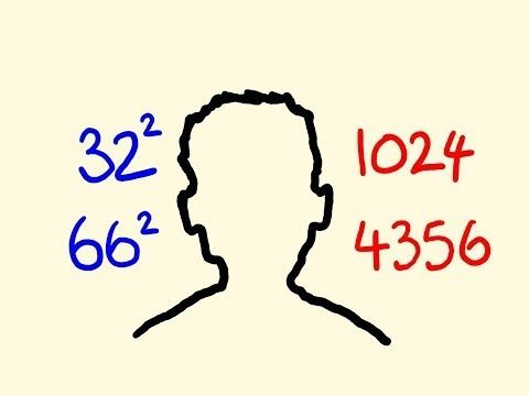How to square any numbers in your head - fast mental math trick - YouTube
