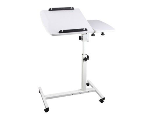 Made of sturdy steel construction with a piano lacquer finish; featuring a sleek and stylish design with great functionality, the 360° Rotating Laptop Stand will also make ideal furniture upgrade for your home.  http://www.rosaelonline.com.au/product/rotating-mobile-laptop-adjustable-desk-white/
