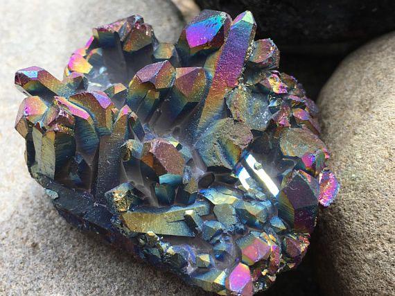 Rainbow Titanium Quartz Cluster