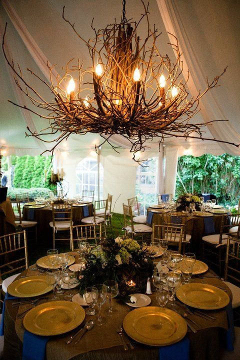 25 Amazing DIY Branches Chandeliers. might toss some branches onto my pre-exsisting chandelier inside