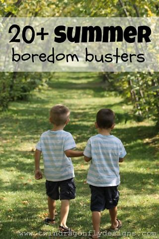 20+ Boredom Busters for kids this summer!