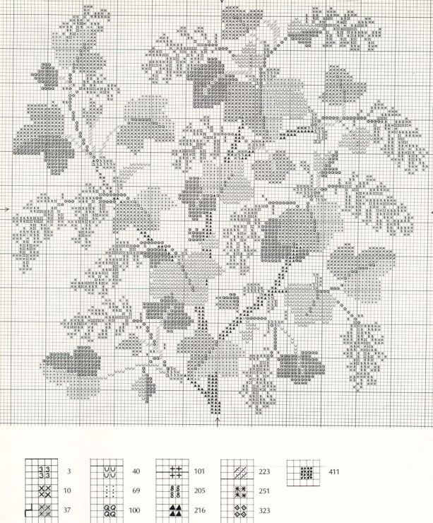 Gallery.ru / Фото #13 - Flowers and Berries in Cross Stitch - Mosca