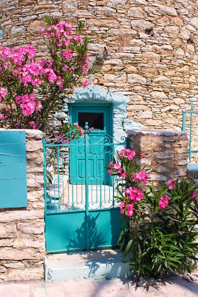 Turquoise Gate And Door ~ Symi, Greece