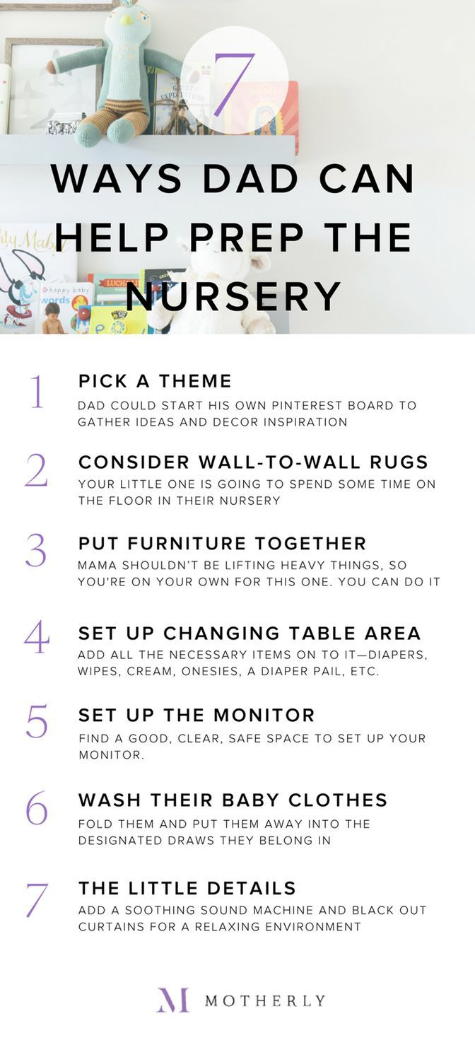 7 ways dad can help prepare the baby's nursery