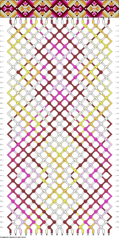 Muster # 92921, Streicher: 20 Zeilen: 40 Farben: 8