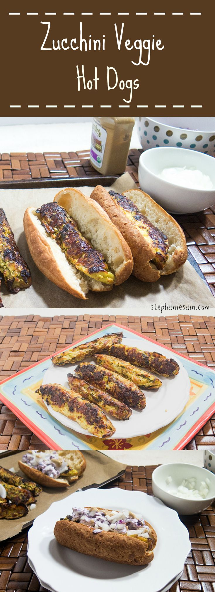 Zucchini Veggie Hot Dogs are a great tasting vegetarian, gluten free hot dog. Perfect with all your favorite toppings.