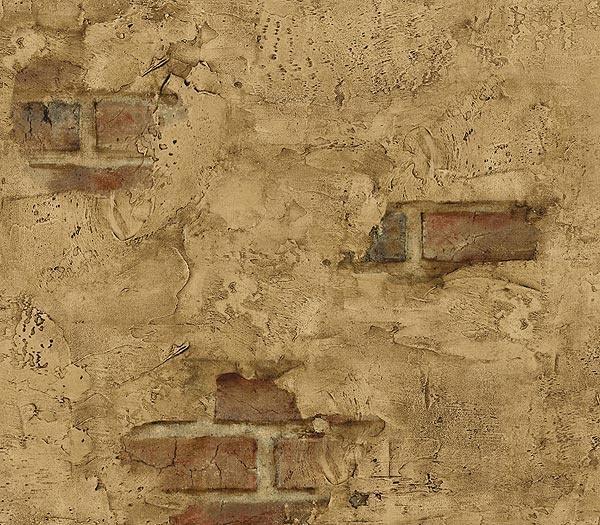 Brick showing through plaster