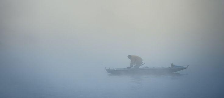 Lost fisherman   Prague foggy morning   www.lukaskrasa.com