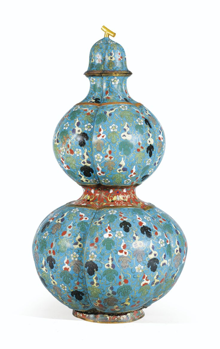 263 best cloisonne celebrate the intricate artwork images on a large cloisonn enamel double gourd vase and cover china qing dynasty reviewsmspy