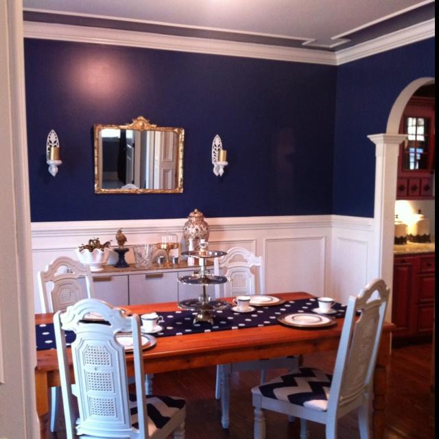 50 best Navy Dining Room images on Pinterest  Dinner