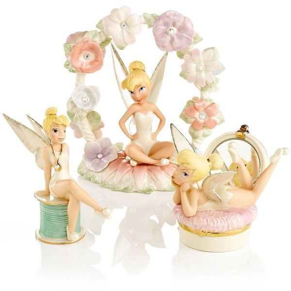 Lenox Collectible Disney Figurines Tinker Bell Collection Liked On Polyvore Featuring Home Home