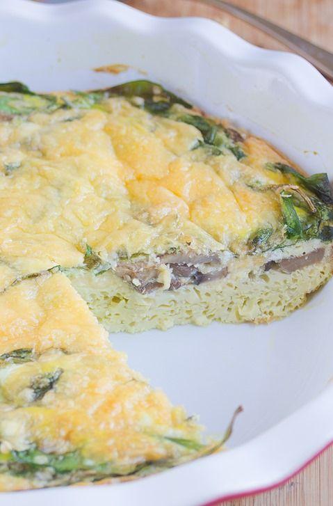Spinach Mushroom Frittata | Family Dinner | Pinterest