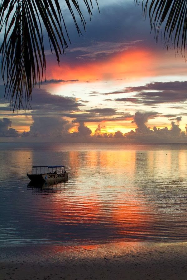 Sunset Samoa @}-,-;--  - Explore the World with Travel Nerd Nici, one Country at a Time. http://TravelNerdNici.com