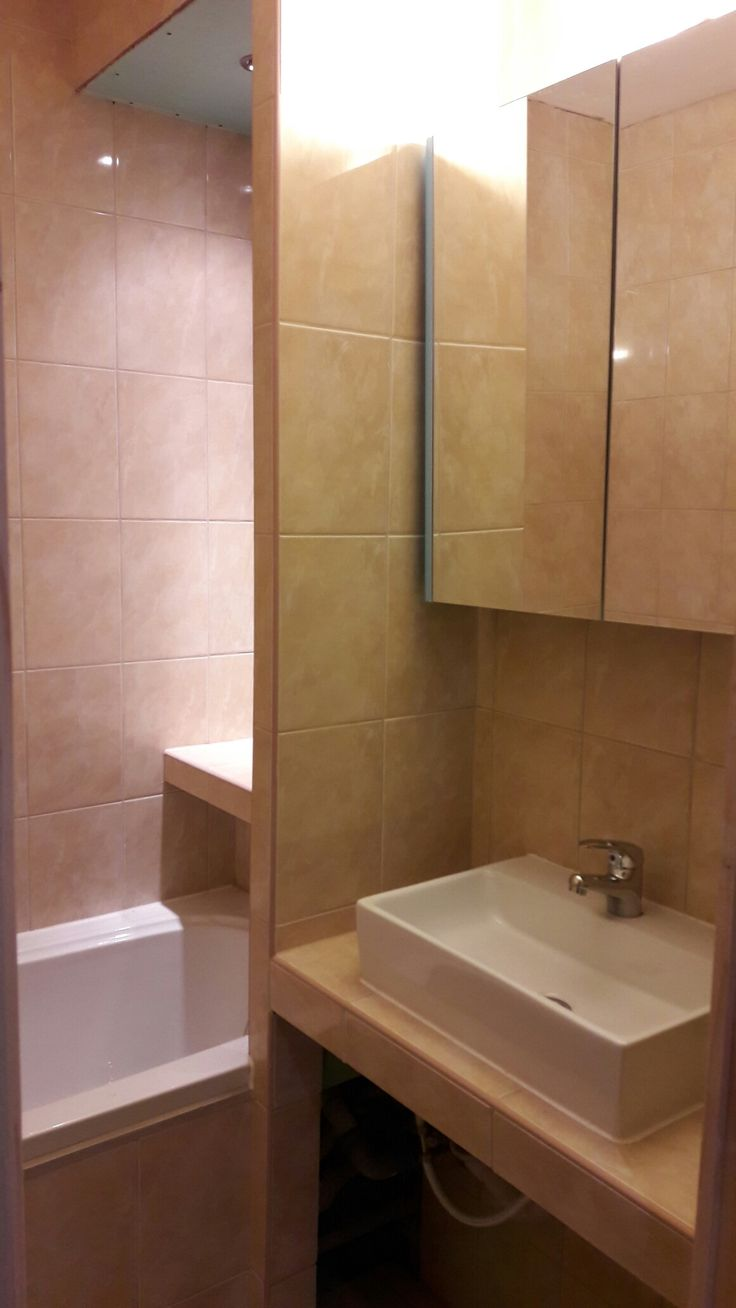 Egy XIX. munkánk. Pici fürdőszoba is lehet praktikus.