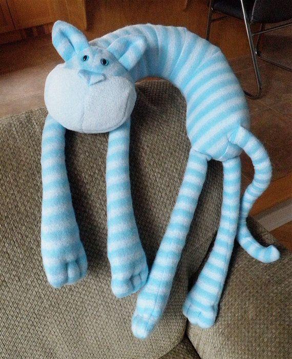 Stripey cat neck pillow - LOVE IT!