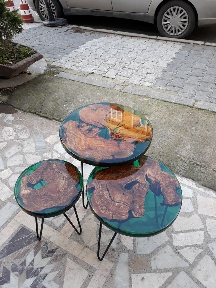 Epoxidharz Couchtisch Aus Olivee Holz Epoxydharz Tisch In 2019