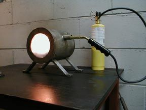 how to make a gas forge. forge running how to make a gas