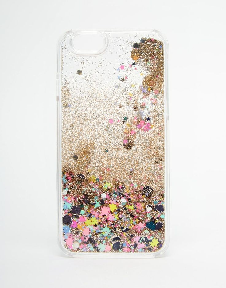 Image 1 of ASOS iPhone 6 and 6s Liquid Sparkle Glitter Case