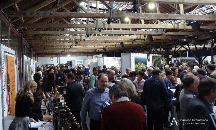 Inside Tobacco Dock during the Wines from Spain Trade Fair 2015.