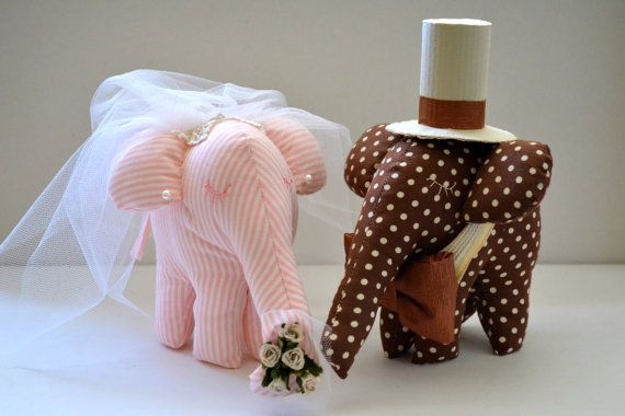 Wedding Animals-Bride and Groom Elephant Wedding by penhands