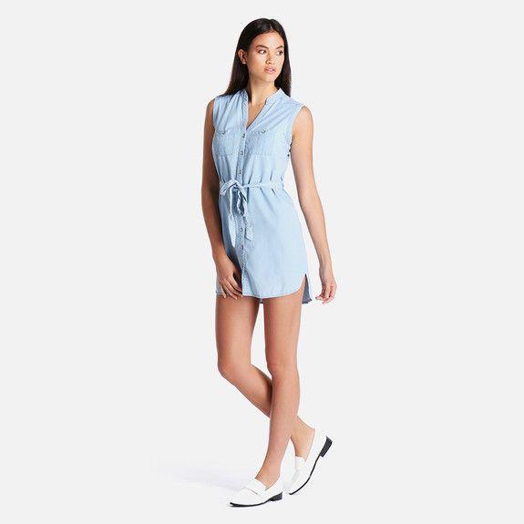 F SS15 SLSS DENIM SHIRT DRS 90 New Look Dresses | Superbalist.com