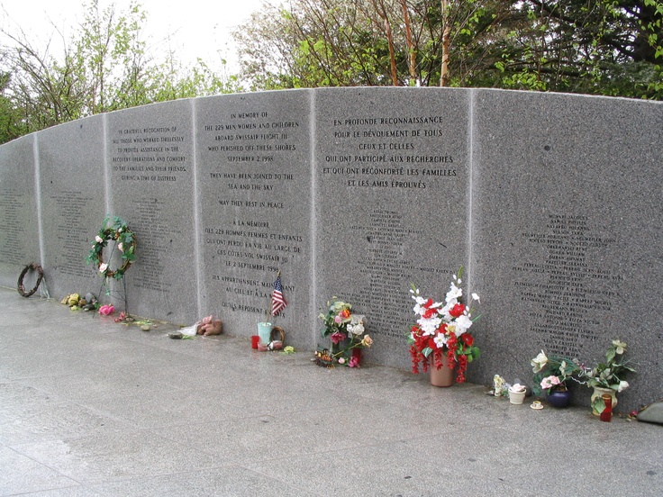 Second memorial to the victims of Swissair Flight 111 in Bayswater, Nova Scotia.