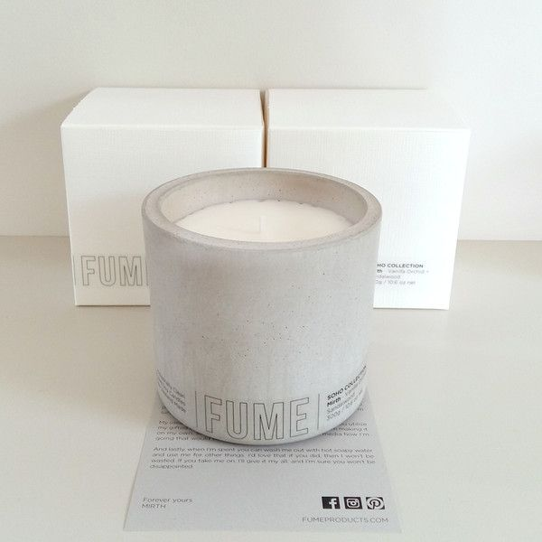 Concrete Soy Candle - Natural
