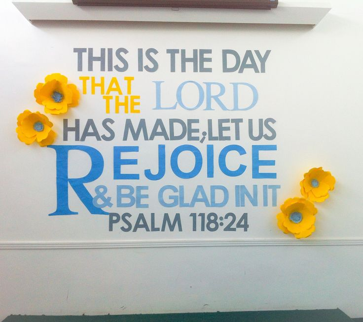 FBC teen room Spring theme for church. We put this in the front as our focal point, it takes up a lot of space for a huge wall!