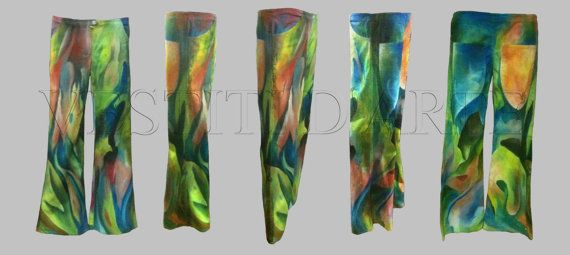 HAND PAINTED JEANS Plus size clothing plus size by Vestitidarte
