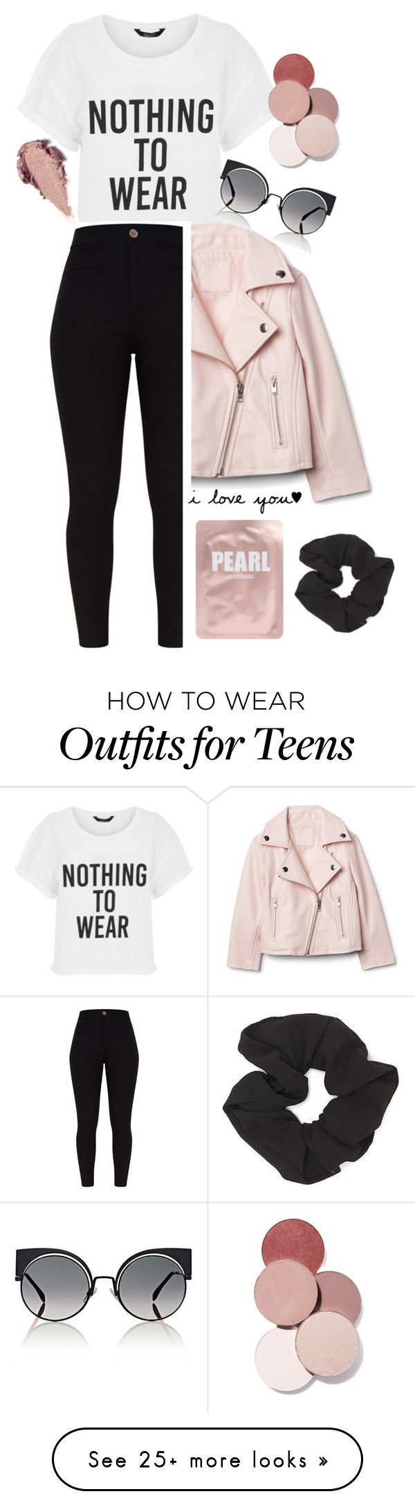 """Pink"" by tessilou14 on Polyvore featuring Fendi, Rituel de Fille, Forever 21, Lapcos and LunatiCK Cosmetic Labs"