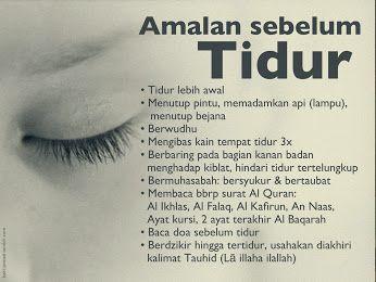 Amalan Sunnah Rasulullah Muhammad SAW Sebelum Tidur