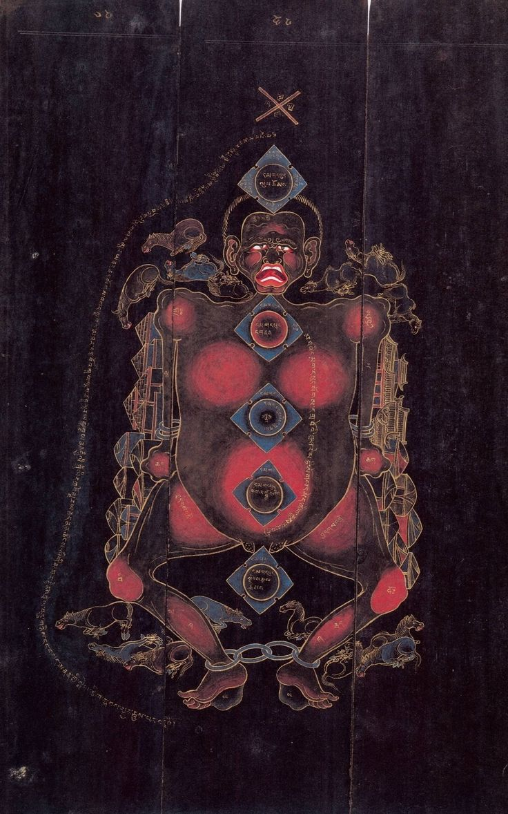 Tibetan Amulet, from visionary experiences of the Fifth Dalai Lama, Ngawang Lobzang Gyamtso (1617-1682).
