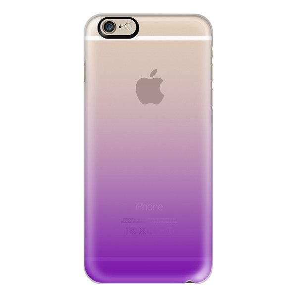 Purple Ombre  - iPhone 6s Case,iPhone 6 Case,iPhone 6s Plus... (€36) ❤ liked on Polyvore featuring accessories, tech accessories, phones, phone cases, electronics, iphone case, clear iphone cases, iphone cases, slim iphone case and apple iphone cases