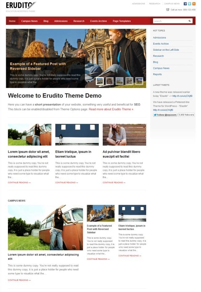 Erudito Education Premium WordPress Theme By WPZoom | 新闻 ...