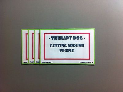 Here is a complete Therapy Dog Training Task Pack. This is based on the 13 testing exercises in the Therapy Dog International Certification test. Because the changes to this test are fairly recent, I will send a print out of what is expected of the dog during the testing items.