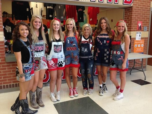 """Personalized spirit wear has been a thing for the senior class from the early days of the school. This year, the class of 2015 decided to continue that tradition with a wide variety of decorated senior overalls. """"I think it is good because it is something fun to do,"""" senior football player Chase Tucker said...."""