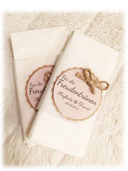 Hochzeit - Freudentränen Taschentücher - 100% handmade ♥♥♥ - ein Designerstück…
