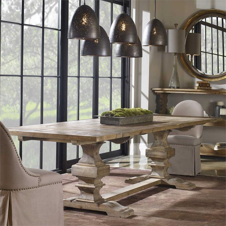 Baldrick Extension Dining Table, Uttermost Dining Room Tables