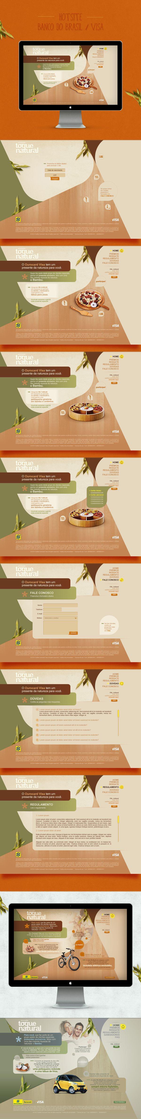 - promotion banco do brasil / visa - by Juliana Laterza, via Behance