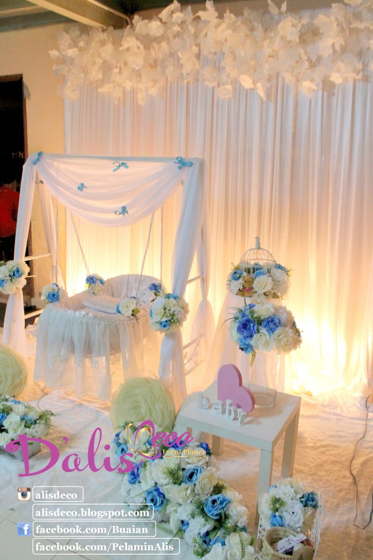34 best images about swing cradle on pinterest english for Baby name ceremony decoration