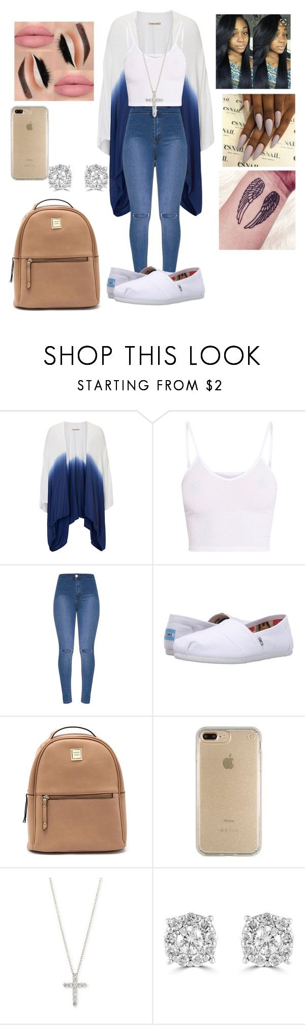 """""""simple an sexy💯👅"""" by babymommaswag ❤ liked on Polyvore featuring Betty Barclay, BasicGrey, TOMS, Speck, Fantasia by DeSerio and Effy Jewelry"""