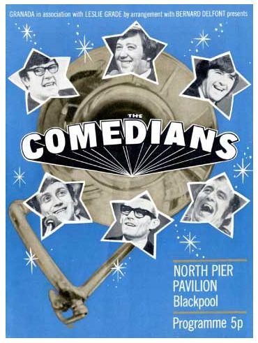 Programme cover, The Comedians. North Pier, Blackpool, summer season 1972. George Roper, Frank Carson, Duggie Brown, Colin Crompton. Mike Burton, Steve Faye.