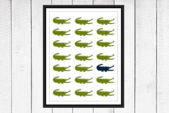 Alligator Nursery   Alligator Print  Nursery by TheEducatedOwl, $7.00
