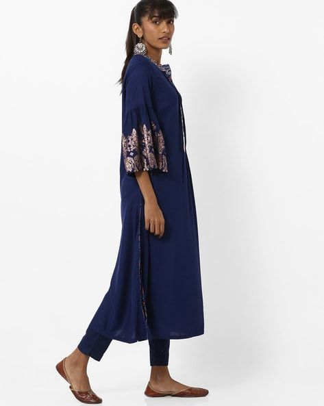 1afa6a7d Buy Indigo Kurtas for Women by Biba Online | Ajio.com | ajio ...