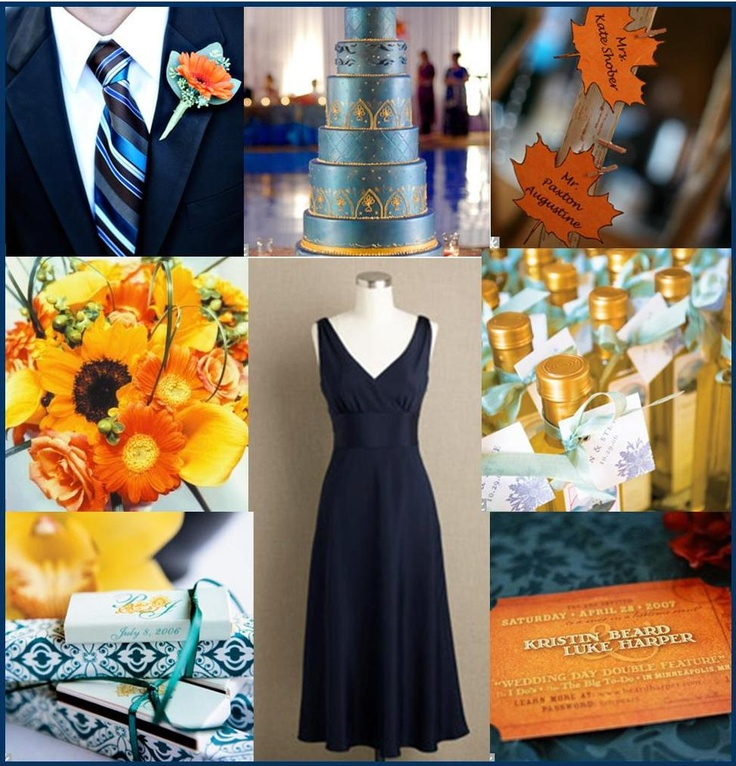 tiffany blue and black wedding decorations%0A Orange and Khaki Wedding  Find this Pin and more on Orange  u     Turquoise Party
