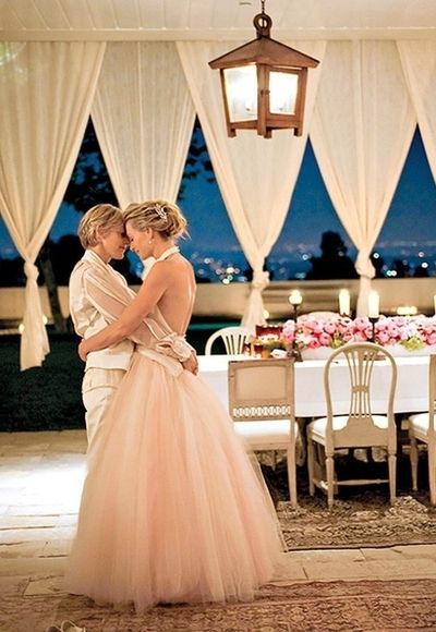 perfectly beautiful couple and wedding, Ellen and Portia