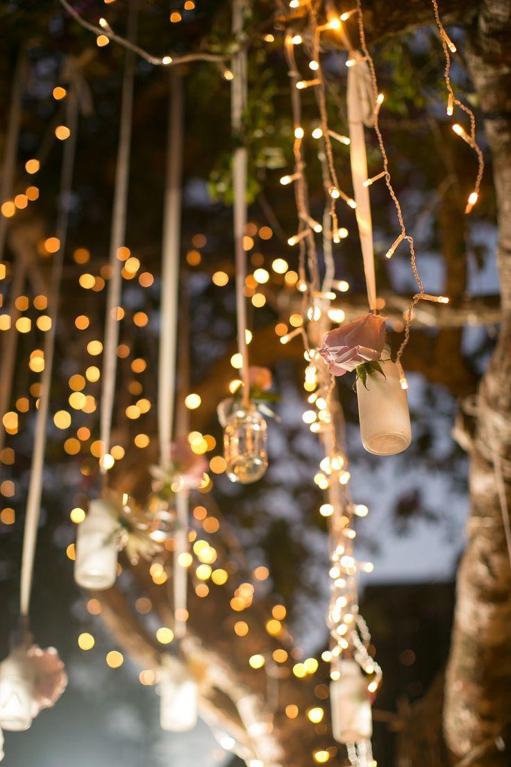 Fairy Lights lit in Dusk