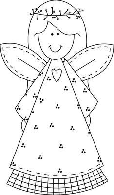 Výsledek obrázku pro omalovánky anděl